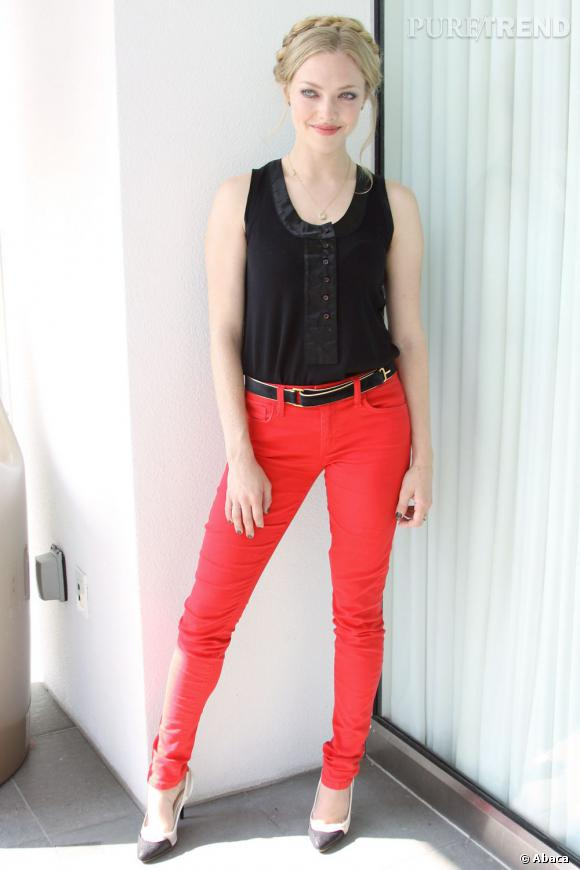 Visage angélique et look rock, un joli mélange pour Amanda Seyfried.