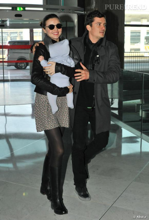 Miranda Kerr, Orlando Bloom et Flynn.