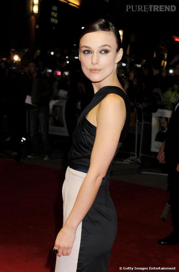 """Keira Knightley à la première du film """"A Dangerous Method"""" au Festival du Film de Londres."""
