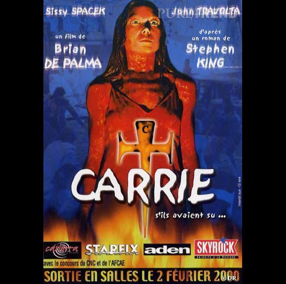 Carrie de Brian De Palma (1976)    L'adaptation d'un roman de Stephen King où une adolescente coupée du monde et tête de turc du lycée va se révéler moins inoffensive qu'il n'y parait. Du culte là aussi.