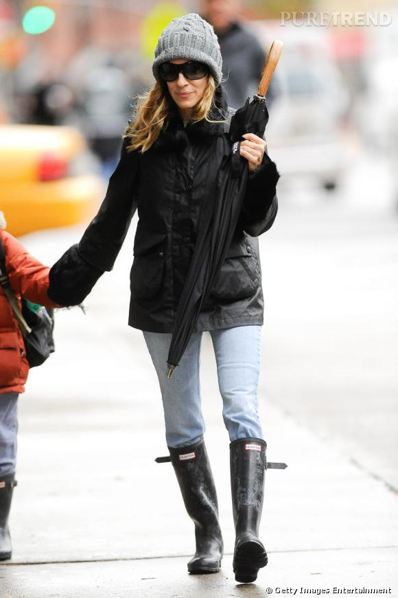 Autre fan des bottes de pluie Hunter original Tall noires  Sarah Jessica  Parker.