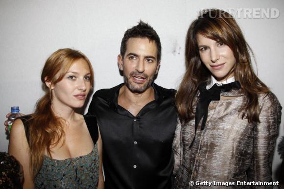Son pote designer Marc Jacobs et sa copine it-girl et française, Josephine de la Baume.