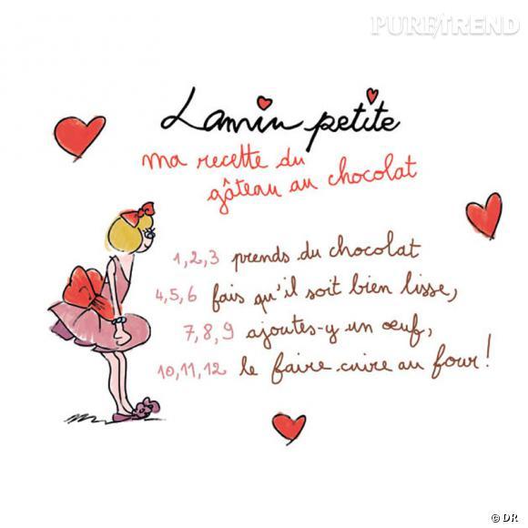 "Concours Lanvin Petite, ""Ma recette de gâteau au chocolat""."