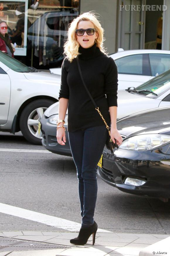 Reese Witherspoon, maman chic et décontractée.  Verdict : on adopte.