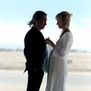 "La fameuse scène du mariage sanglant avec Uma Thurman dans ""Kill Bill""."