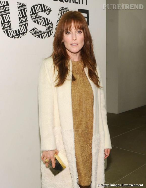 Julianne Moore conviée à la soirée Calvin Klein à New York.