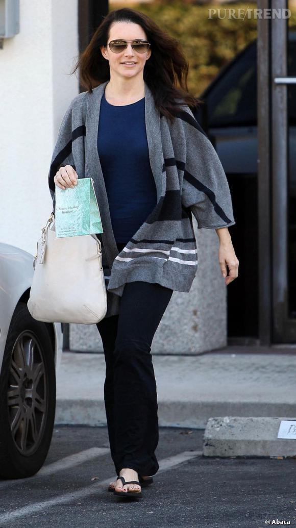 """Kristin Davis, loin, très loin de l'élégance de Charlotte York, son personnage dans """"Sex & The City""""."""