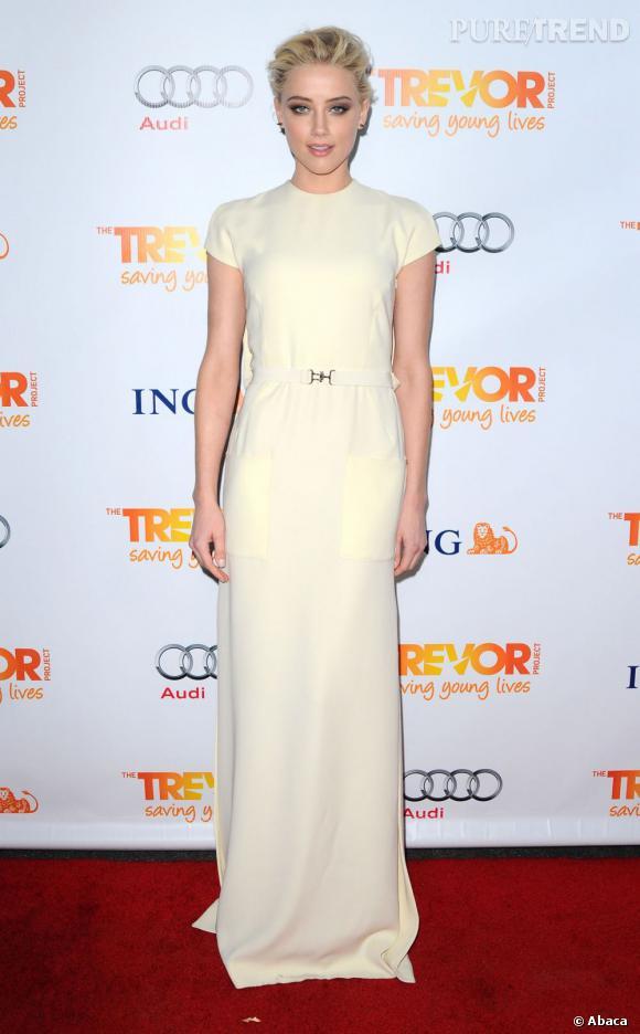 Amber Heard, sexy à souhait à la soirée Trevor Live à Los Angeles.