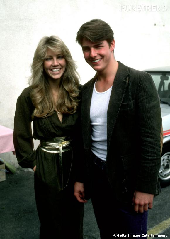 Tom cruise et Heather Locklear, couple heureux en 1982.