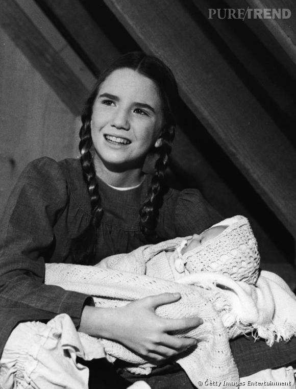 """1978 : Laura Ingall ou Melissa Gilbert, dans """"La petite maison dans la prairie""""."""