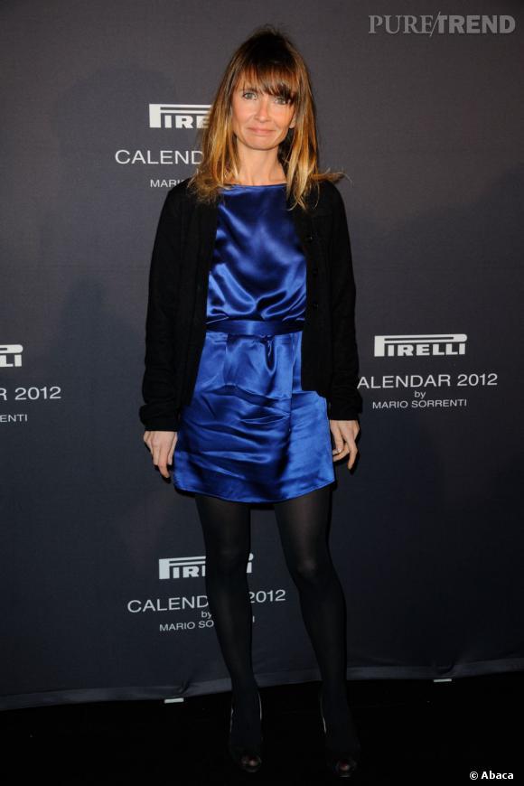 Axelle Laffont mise sur le noir pour atténuer la brillance de sa tenue.