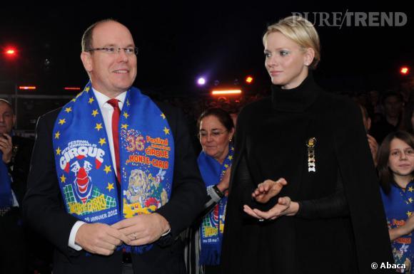 Charlène Wittstock à l'ouverture du 36 ème Festival international du cirque de Monte-Carlo.