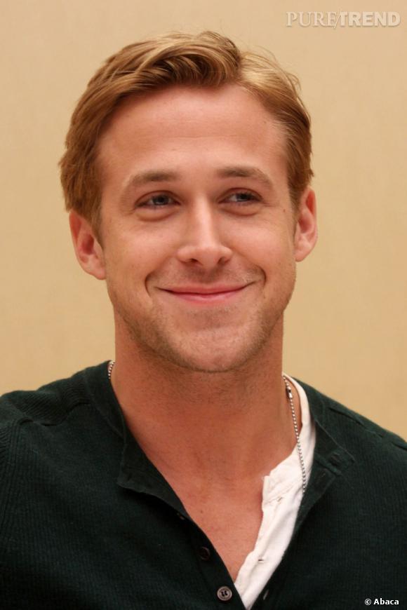 La coiffure de Ryan Gosling est celle d'un jeune premier. Propre, mais pas ennuyeux.