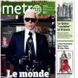 Karl Lagerfeld s'invite dans la rédaction de Metro.