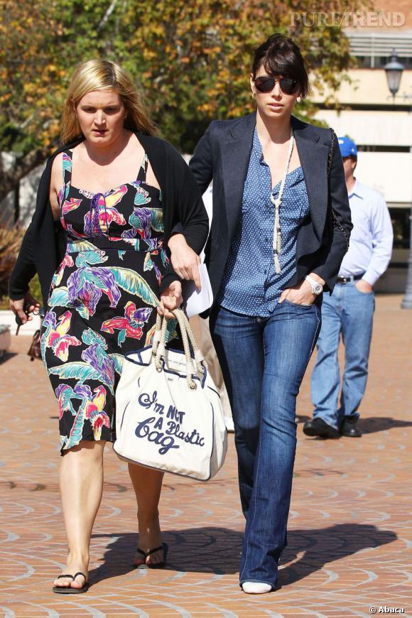 Jessica Biel, le style en jean.