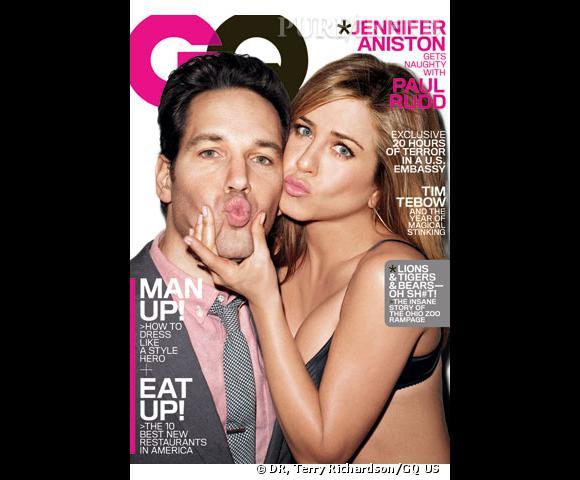 Jennifer Aniston et Paul Rudd pour le GQ US.