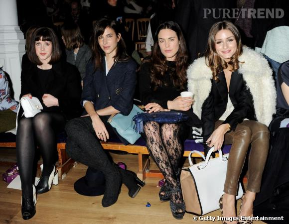 Alexandra Roach, Caroline Sieber, Tallulah Harlech et Olivia Palermo chez Anya Hindmarch à Londres.