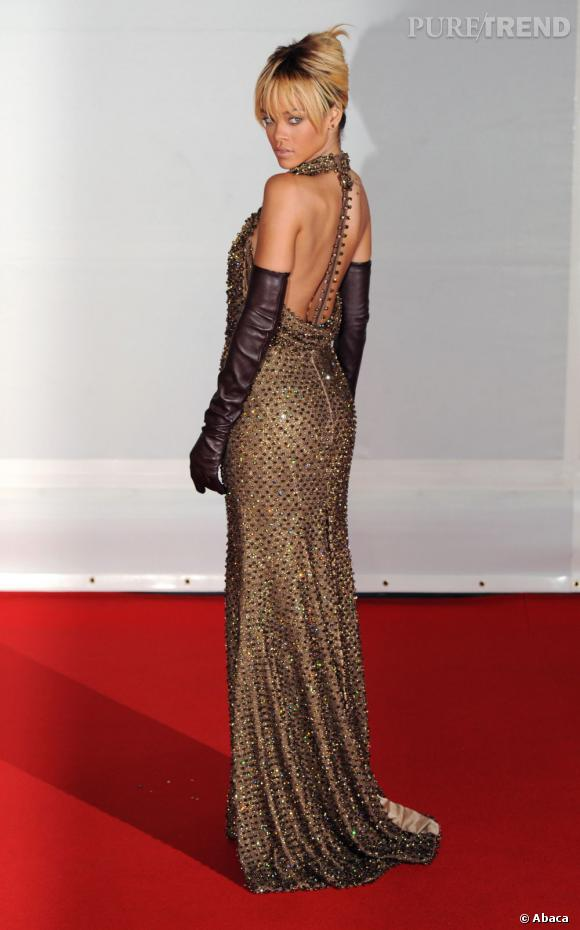 Rihanna lors des Brit Awards 2012 à Londres.