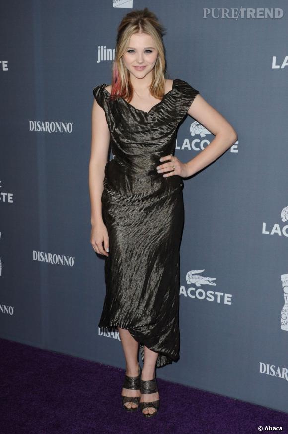 Chloë Moretz aux Costume Designers Guild Awards à Los Angeles.