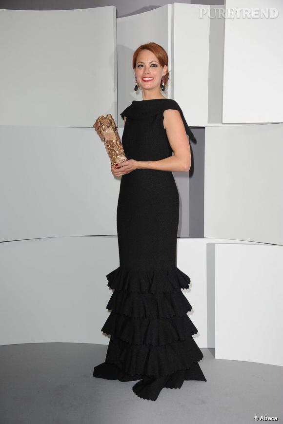 Bérénice Bejo a reçu le prix de la meilleure actrice en robe noire Azzedine Alaïa.