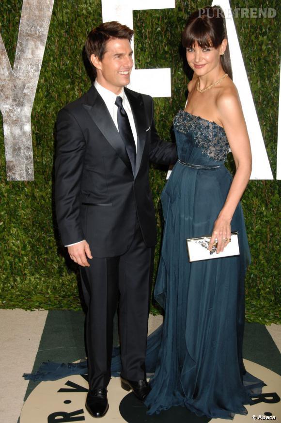 Katie Holmes a choisi elle aussi Elie Saab Haute Couture pour son apparition à la soirée Vanity Fair.