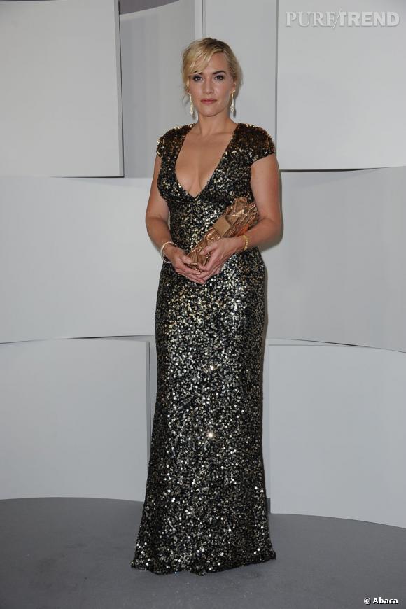 De l'autre côté de l'Atlantique, Kate Winslet recevait son César d'honneur en robe ultra décolletée signé Jenny Packham.