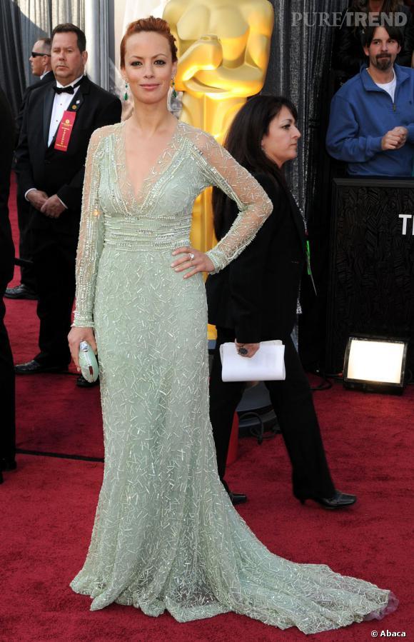 Bérénice Bejo était une nouvelle fois habillée par Elie Saab. L'actrice frenchy est décidement accro aux robes du créateur libanais.