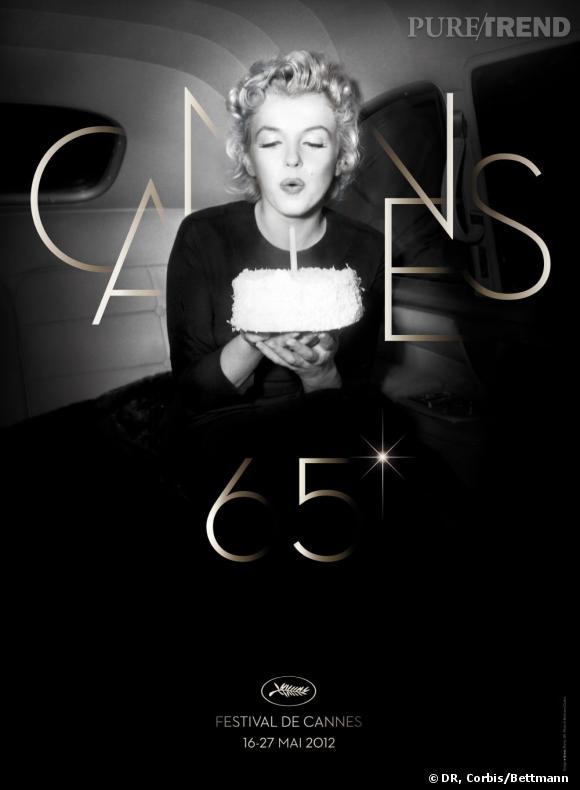 Marilyn Monroe sur l'affiche du 65ème festival de Cannes.