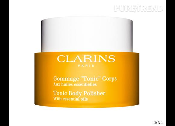 """Gommage """"Tonic"""" Corps de Clarins, 40 €."""