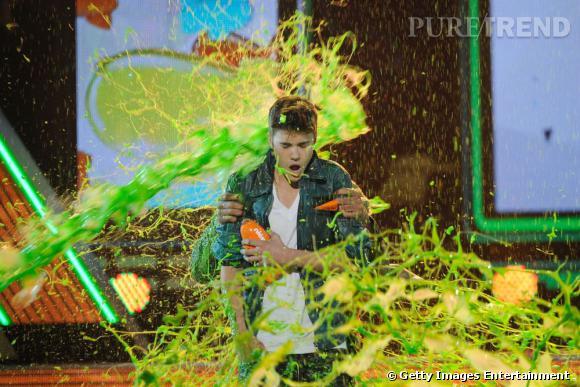 """Meilleur chanteur mais aussi plus gros """"slime"""" de la soirée, Justin Bieber."""