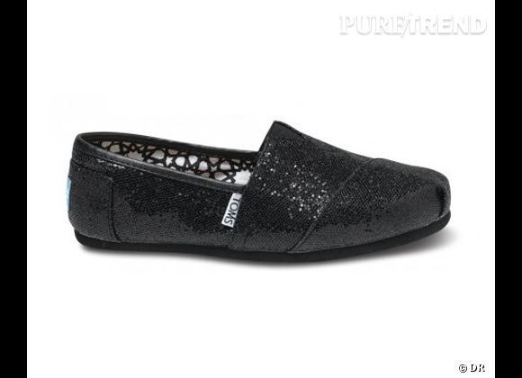Le coup de coeur de Marie     Espadrilles paillettes Toms Shoes, environ 65 €