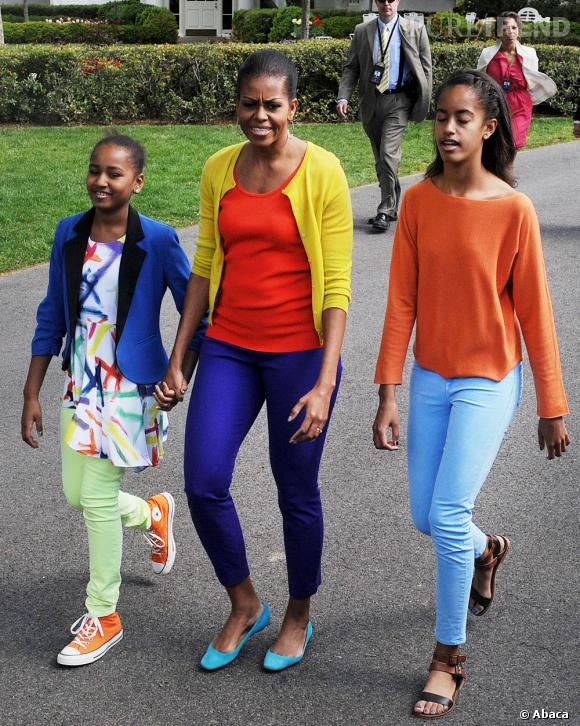 Michelle Obama affiche la couleur pour Pâques.