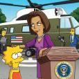 """Michelle Obama, une guest star de taille dans les """"Simpsons""""."""