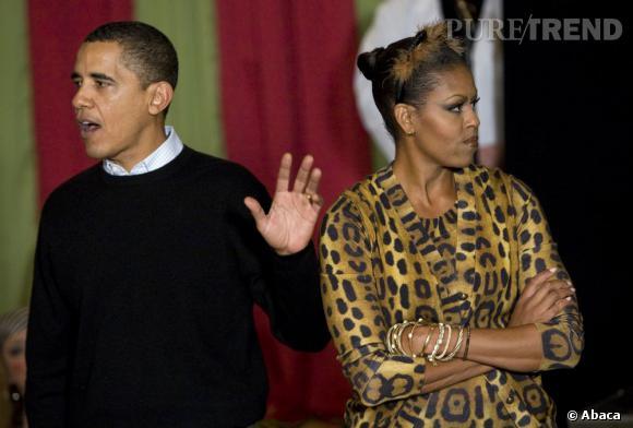 Même lorsqu'elle en fait trop question look, Michelle Obama assume.