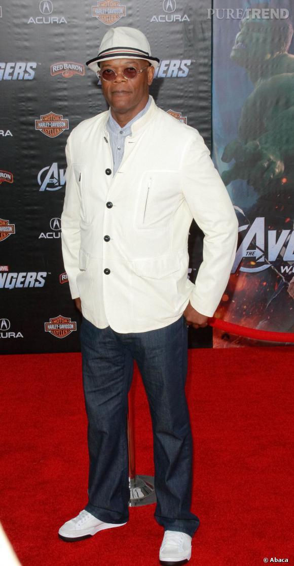 """Samuel L. Jackson joue le rôle de Nick Fury dans le film """"The Avengers""""."""
