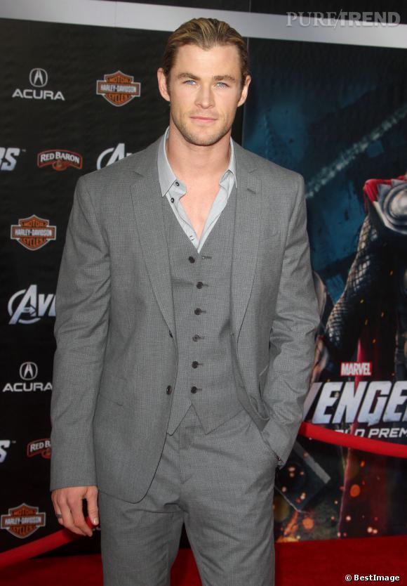 """Chris Hemsworth dans le rôle de l'incroyable Thor dans le film """"The Avengers""""."""