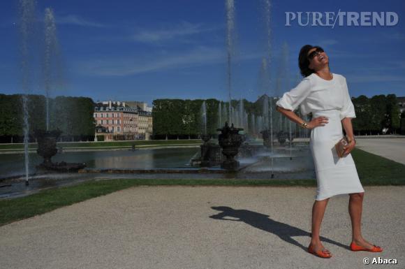 L'ex-mannequin Inès de la Fressange semble beaucoup apprécier l'exercice !