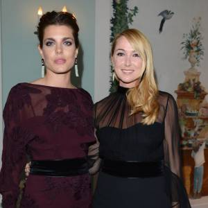 Charlotte Casiraghi au côté de Frida Giannini, directrice artistique de Gucci.