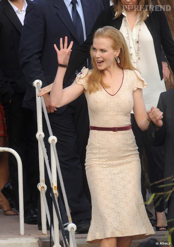 Nicole Kidman arrive au Grand Journal à Cannes le 23 mai.