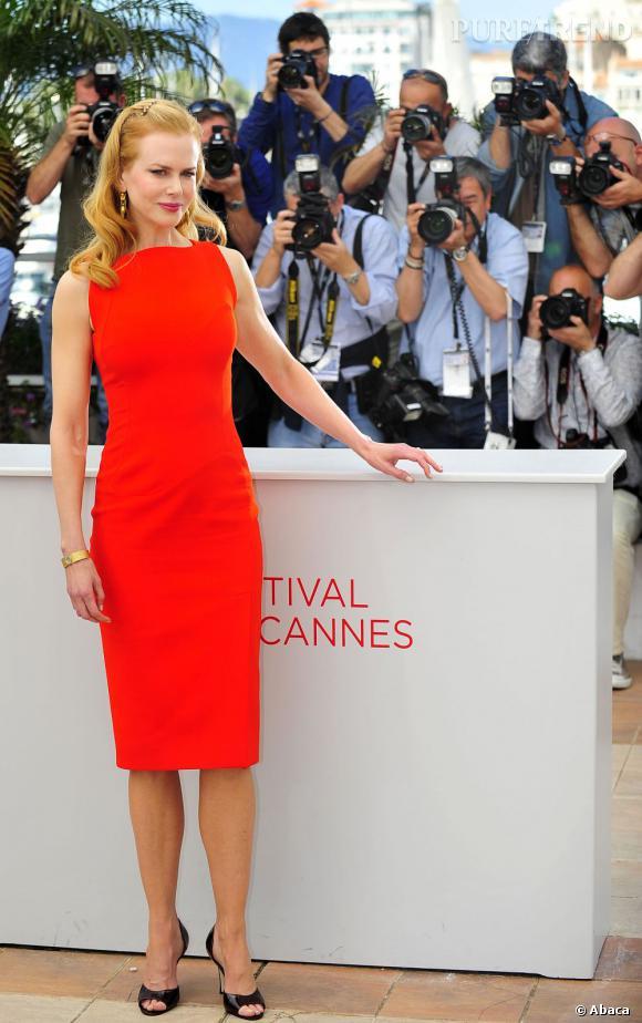 """Nicole Kidman lors du photocall de """"Paper Boy"""" à Cannes."""