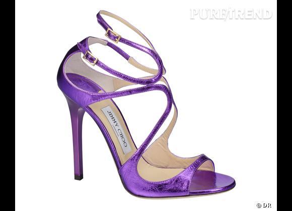 Sandales Lance, Jimmy Choo collection CHOO 24:7 Modèle violet.