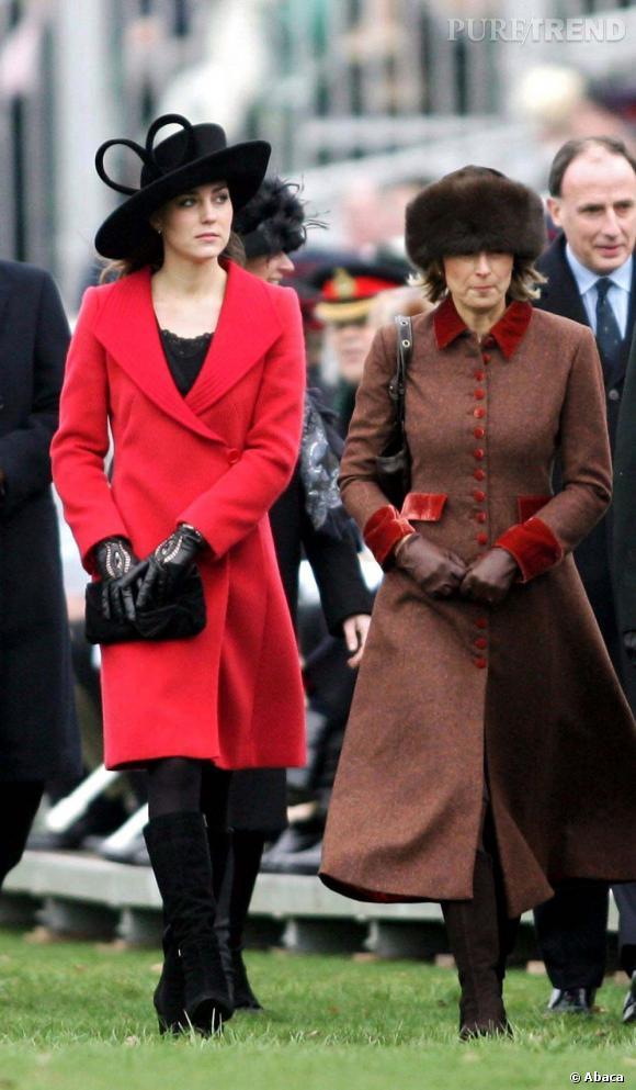 Kate Middleton et sa mère Carole, la mode so british.