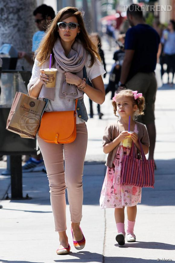 Jessica Alba, une figure mode qui n'a pas manqué de transmettre son savoir à sa fille Honor.