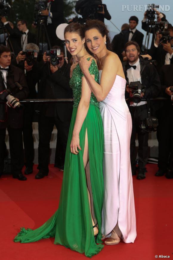 Andie Macdowell et sa fille Sarah Margarett : les déesses de Cannes.
