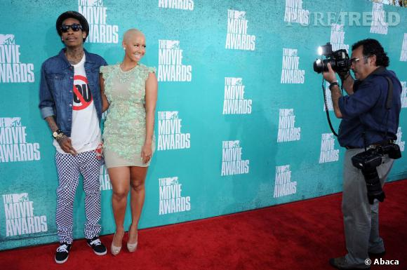 Amber Rose et Wiz Khalifa, un couple qui ne passe pas inaperçu.