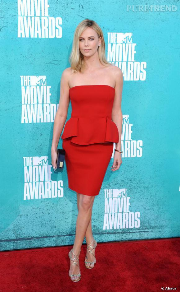Charlize Theron au 2012 MTV Movie Awards en Californie le 3 juin.