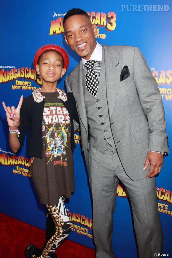 Willow Smith aux côtés de son père Will Smith.