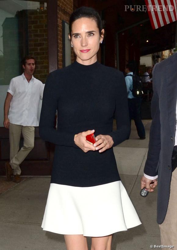 Jennifer Connelly à la sortie de son hôtel à New York.