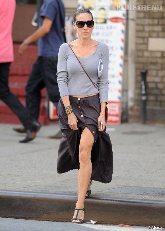 Sarah Jessica Parker dans les rues de New-York le 8 juin.