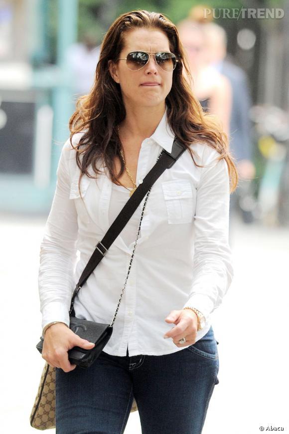 Brooke Shields, l'éternelle fille en jean dans les rues de New York.